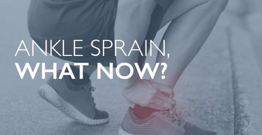Ankle Sprain, What Now?